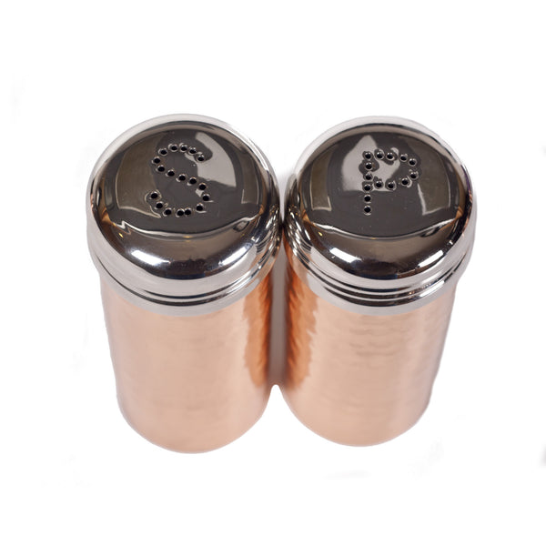 Hammered Copper Salt and Pepper Set (w/Lids)