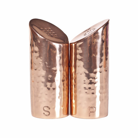Handmade Copper Salt and Pepper Shaker Set