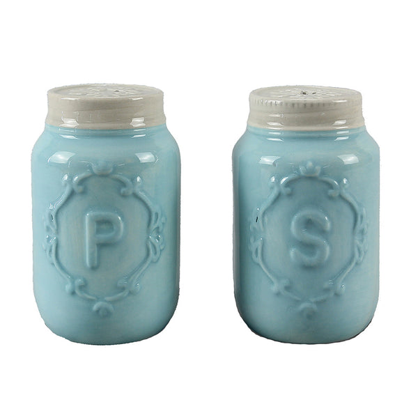Blue Mason Jar Salt & Pepper Shakers - ZallZo.com-Unique Home Decor