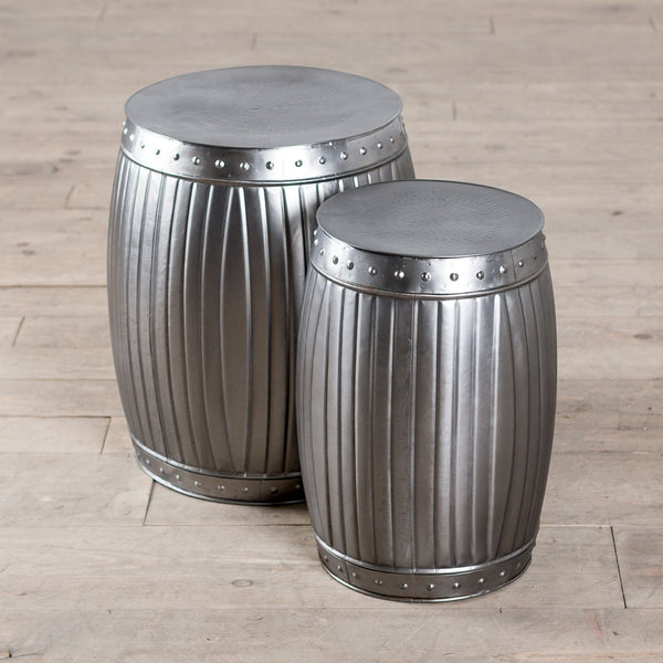 Fluted Round Barrels - Natural (Set of 2)