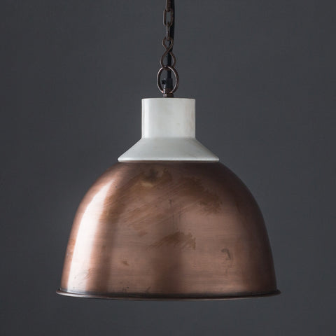 Wallace Copper and Marble Top Hanging Lamp