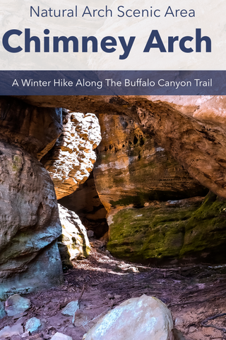 Chimney Arch, A Winter Hike Through The Buffalo Canyon Trail In The Natural Arch Scenic Area