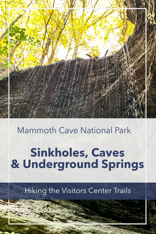 visitors center trail guide in mammoth cave national park kentucky