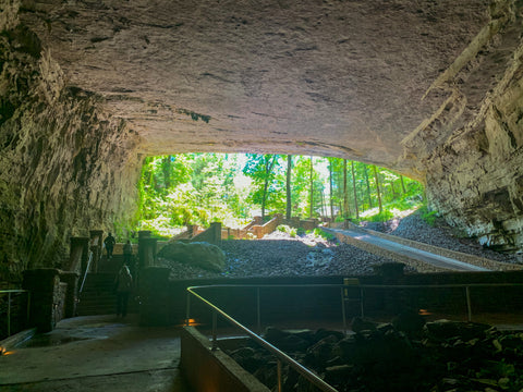 worlds largest cave entrance within cathedral caverns state park alabama