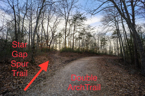 Finding the hidden trail to star gap arch in red River gorge kentucky
