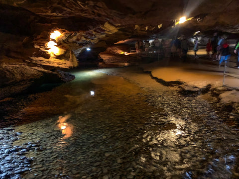 underground river in tuckaleechee caverns, tennessee