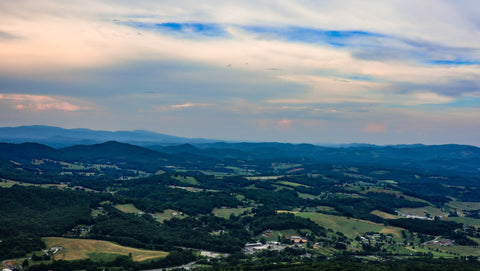 panoramic view of north carolinas high country
