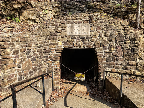 entrance to dripstone trail tour in marengo cave