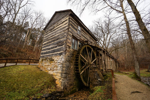 historic boone girst mill in squire boone caverns in indiana