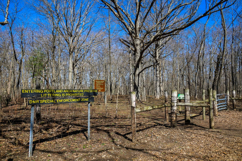 entrance to portland arch nature preserve indiana