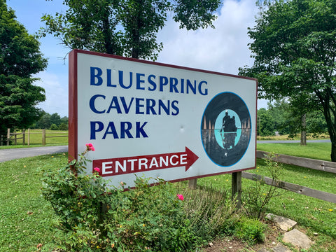 entrance sign to bluespring caverns indiana