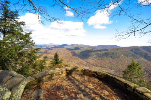 chestoa view overlook of the linville gorge wilderness along the blue ridge parkway