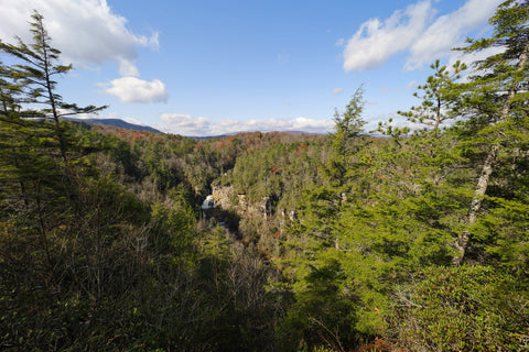 erwins view of linville falls in linville gorge wilderness