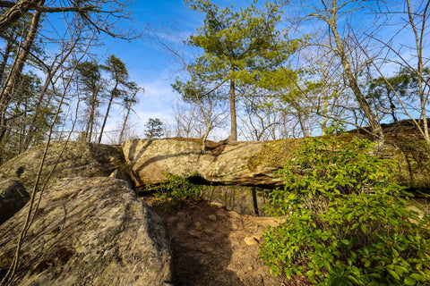 Front view of arch of triumph in red River Gorge Kentucky
