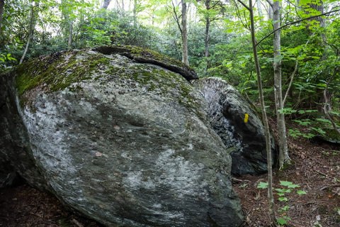 split rock in grayson highlands state park, virginia