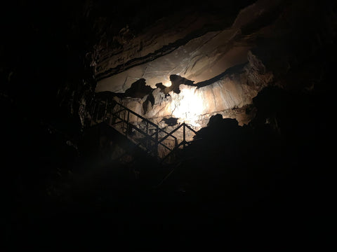 the batman shadow in squire boone caverns in indiana