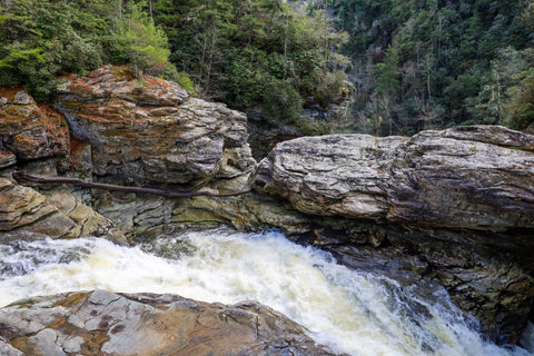 upper plunge area of linville falls in the linville gorge wilderness