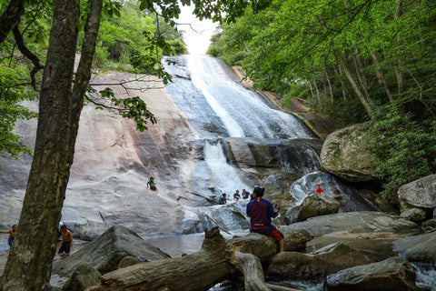 lower falls of stone mountain falls in stone mountain state park