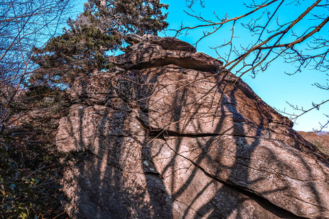 stack rock on the tanawha trail along the blue ridge parkway