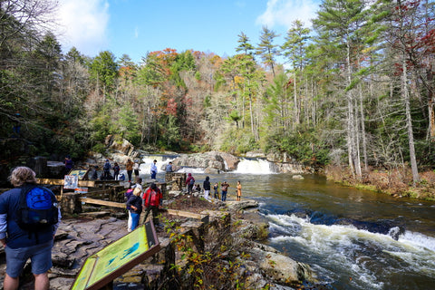 upper falls viewing area of erwins trail in linville falls