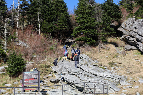 trailhead for grandfather trail in grandfather mountain state park and nature park