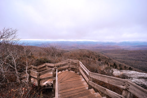 mountain view from rough ridge along the tanawha trail on the blue ridge parkway