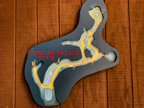 map of crystal palace tour in marengo cave