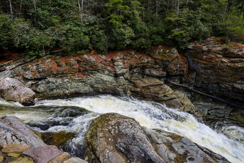 cascading river heading into linville falls