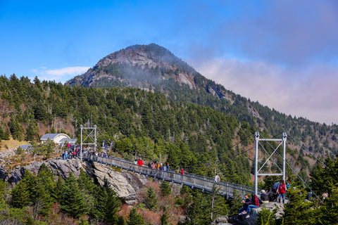 grandfather mountain state park and nature park in linville, north carolina