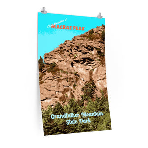 Grandfather Mountain MacRae Peak Poster
