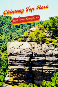 Red River Gorge Chimney Too Rock Overlook Poster Kentucky