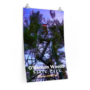 O'Bannon Woods State Park Fire Tower Indiana Poster