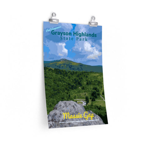 Grayson Highlands State Park Virginia Massie Gap Mount Rogers Poster