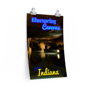 Bluespring Caverns Cave Boat Tour Indiana Poster