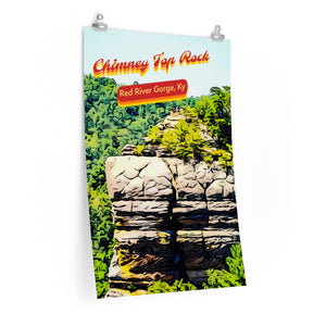 Red River Gorge Chimney Top Rock Poster