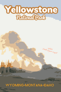 Yellowstone National Park Castle Geyser Poster Wyoming