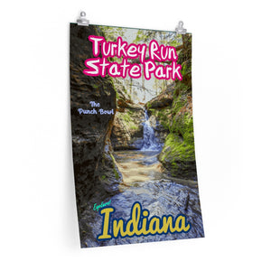 Turkey Run State Park The Punch Bowl Poster