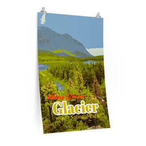 Glacier National Park Many Glacier Poster