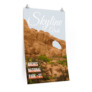 Arches National Park Skyline Arch Poster