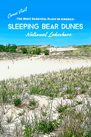 Sleeping Bear Dunes National Lakeshore Dune Climb Michigan Poster
