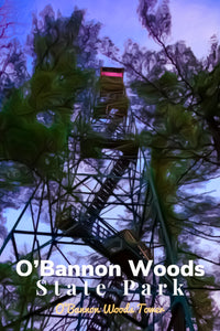 O'Bannon Woods State Park Indiana Fire Tower Poster