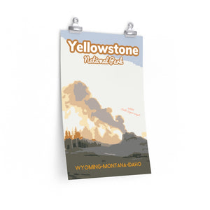 Yellowstone National Park Castle Geyser Wyoming