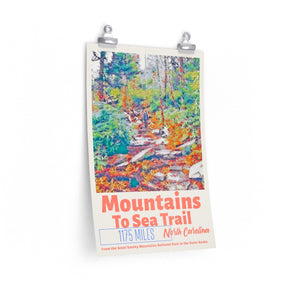 Mountains To Sea Trail North Carolina Poster