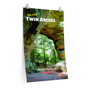 Big South Fork Twin Arches Tennessee Poster