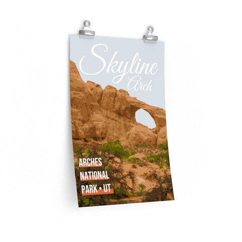 Arches National Park Utah Skyline Arch Poster