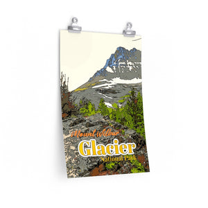 Glacier National Park Mt Wilbur Poster