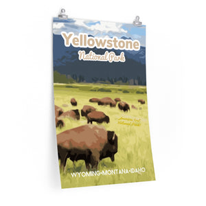 Yellowstone National Park Bison Wyoming Poster