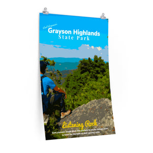 Grayson Highlands State Park Listening Rock Poster