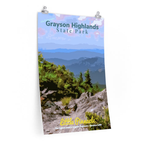 Grayson Highlands State Park Virginia Little Pinnacle Poster