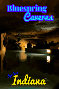 Bluespring Caverns Indiana  Poster Cave